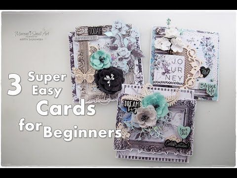 3 Easy Dimensional Cards for Beginners ♡ Maremi's Small Art ♡
