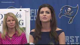 Florida's First Lady Casey DeSantis discusses Hope for Healing initiative at First Coast High School