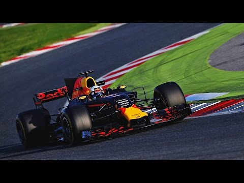 The RB13 takes to the track in Barcelona!