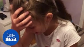 'Is this cat ours?' Girl overwhelmed after discovering new kitten