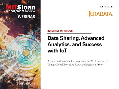 Data Sharing, Advanced Analytics, and Success with IoT