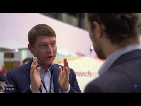 Patrick Siegenthaler in the Sibos 2016 Swiss FinTech Corner