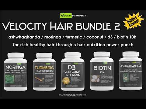 Velocity Hair Bundle 2 for Rich Healthy Hair Through a Hair Nutrition Power Punch