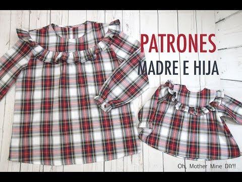Patrones blusa madre e hija (gratis en varias tallas)