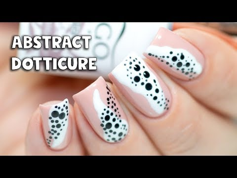 ABSTRACT DOTTICURE - Simple Nail Art with Gel Polish