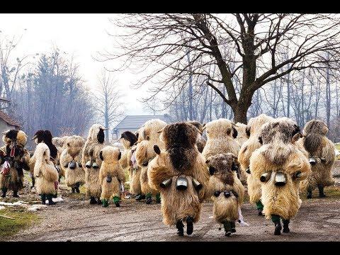 Woolly Beasts Scare Away Winter in Slovenia
