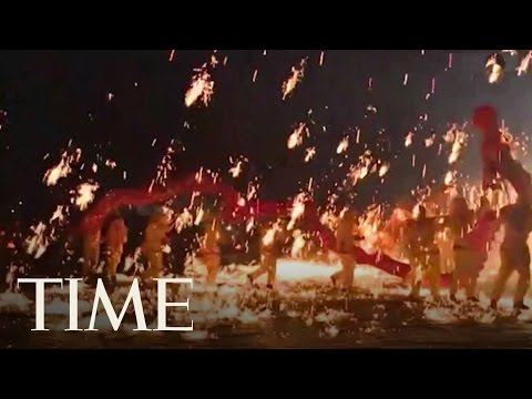 Artists Perform Fire Dragon Dance In Southwest China To Celebrate Spring Festival   TIME