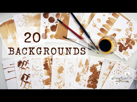 20 COFFEE Backgrounds Ideas for Junk Art Journaling ~ ✂️ Maremi's Small Art