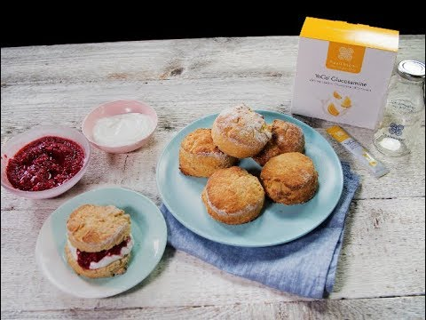scones with chia jam made with YoGo Optiflex Glucosamine Lemon