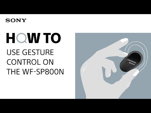 How to use gesture control on the WF-SP800N