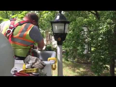 Installing New LED Streetlights with Public Works