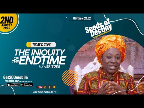 Dr Becky Paul-Enenche - SEEDS OF DESTINY - SUNDAY AUGUST 2, 2020