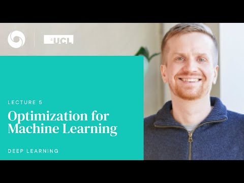 DeepMind x UCL   Deep Learning Lectures   5/12    Optimization for Machine Learning
