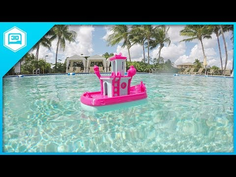Floating Tub Boat - 3D Printing Time-lapse