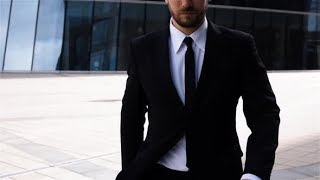 Epic Portrait of Successful Serious Businessman Near Business Centre | Stock Footage - Videohive