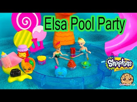 Disney Frozen's Queen Elsa Pool Party with Shopkins from Season 1, 2, 3 + Limited Edition Tin'a Tuna - UCelMeixAOTs2OQAAi9wU8-g