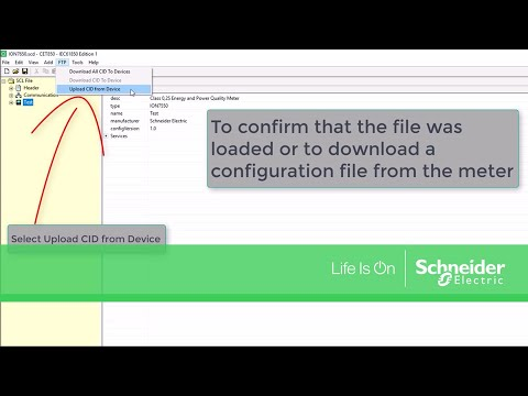 Creating & Loading IEC61850 CID Files onto ION Power Meters | Schneider Electric Support