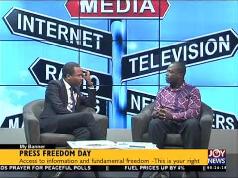 Press Freedom Day - My Banner on Joy News (3-5-16)
