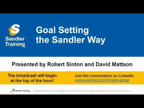 Goal Setting The Sandler Way