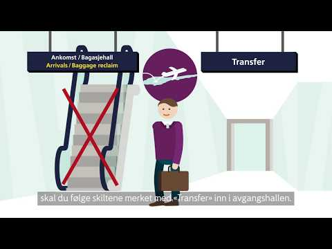 Domestic transfer på Oslo lufthavn