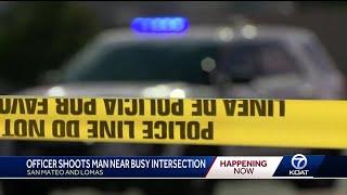 Officer shoots man driving erratically then waiving a gun around
