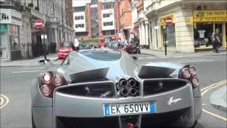 1st Pagani Huayra In London!! Driving on the road! Looks insane.