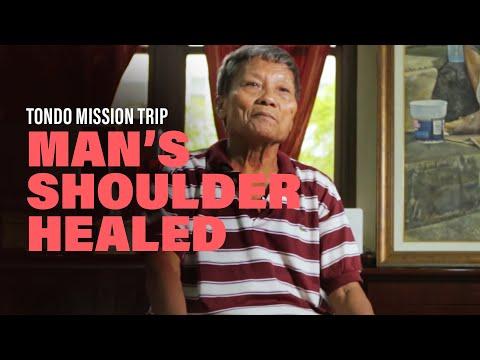 Mans Shoulder Healed  New Creation Church