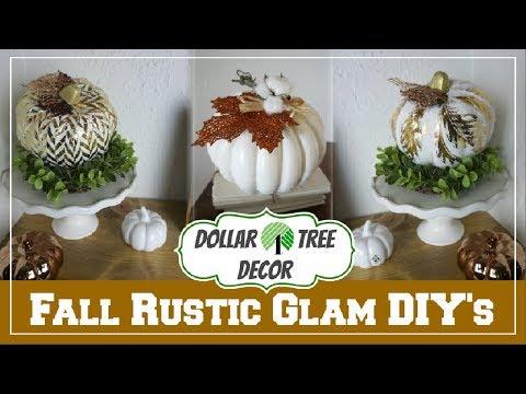 Fall Rustic Glam Dollar Tree DIY Decor Ideas   Momma From Scratch