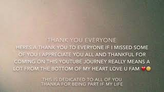 Thank you so much everyone for my journey on youtube!!!