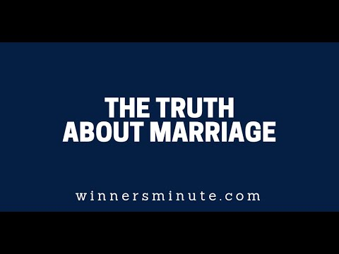 The Truth About Marriage  The Winner's Minute With Mac Hammond