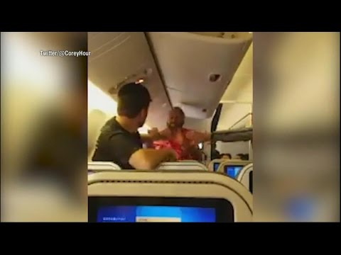 Video shows two men fighting on flight from Japan to Los Angeles | ABC News