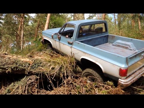 RC4WD Chevy Blazer - pickup conversion, crawling in the woods. - UCfQkovY6On1X9ypKUr9qzfg