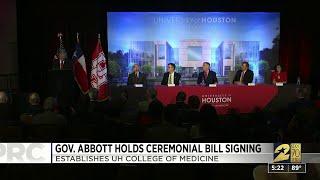 Gov. Abbott hold ceremonial bill signing