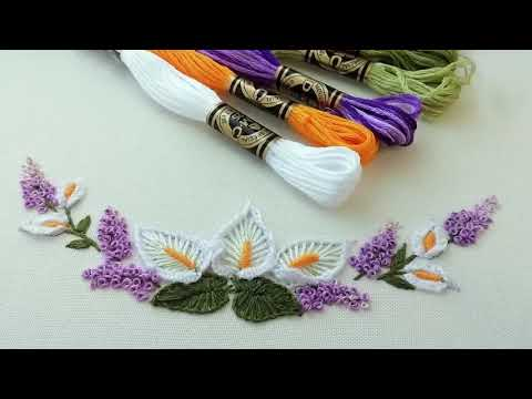 Floral Embrroidery | How to embroider calla lilies