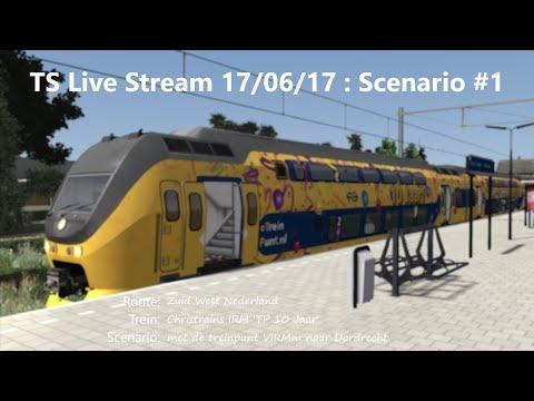 met de treinpunt VIRMm naar Dordrecht (Livestream 17/06/17)