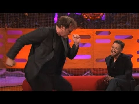QUENTIN TARANTINO: Dancing the Pulp Fiction Twist (The Graham Norton Show) - bbcamericatv
