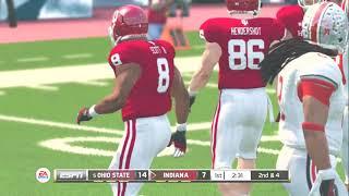 (Ohio State Buckeyes vs Indiana Hoosiers) (NCAA Football 20 2019 2020 Season) PS3