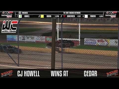NDRA UMP Modifieds @ Cedar Lake - dirt track racing video image