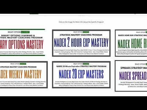 MASTERY Binary Options Coaching Programs Explained Review Overview