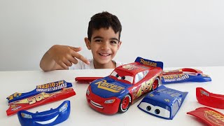 Change & Race Disney Cars 3 Toys Lightning McQueen Unboxing Fun With Dlan Toys