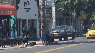 Pacific Beach homeless attack caught on video