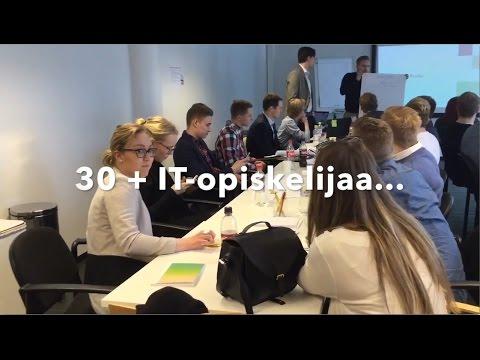 Mitä osaamista IT-alalla tarvitaan? Mitä päivä Solteqissa antoi? Dumppi ry:n opiskelijat tutustuivat IT-työarkeen toimistollamme. Kristiina, Eemil, Sakari ja Anni jakavat ajatuksensa.