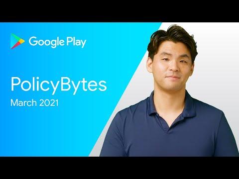 2021년 3월 구글플레이 개발자 정책 업데이트 (한국어)