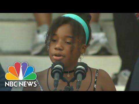 Yolanda Renee King's Inspiring Message To Other Kids | NBC Nightly News