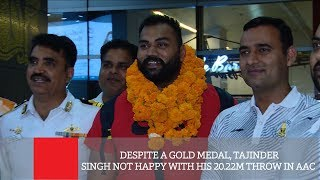 Despite A Gold Medal, Tajinder Singh Not Happy With His 20.22m Throw In AAC