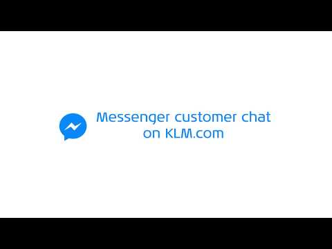 KLM launches Messenger customer chat on KLM.com