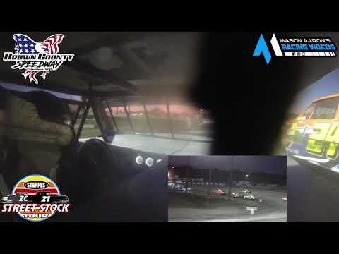 #14 Maria Broksieck WISSOTA Street Stock On-Board @ Aberdeen (6/11/21) - dirt track racing video image