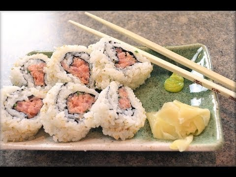 How to make Spicy Tuna Rolls Sushi