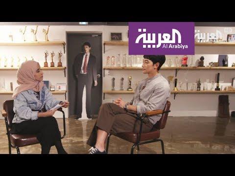 لقاء الفنان Rain الكوري على العربية