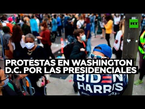 Protestas en Washington D.C. durante el conteo de votos por las presidenciales